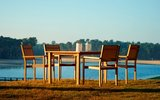 Traditional Teak KATE stacking chair _