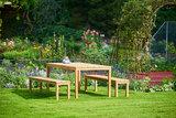 Traditional Teak MORITZ MOSAIC backless bench _