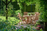 Traditional Teak VICTORIA recliner / verstelbare stoel_