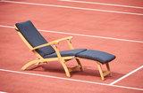 Traditional Teak KATE deckchair / ligstoel Taupe_