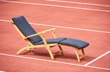 Traditional Teak KATE deckchair / ligstoel Wit_