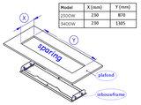 Bromic Inbouwframe voor de Platinum Smart Heat Electric