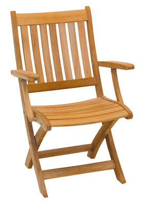 Traditional Teak Alexia folding armchair