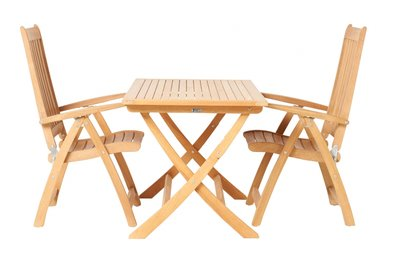 Traditional Teak ALEXIA square table