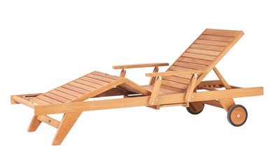 Traditional Teak LEAH lounger