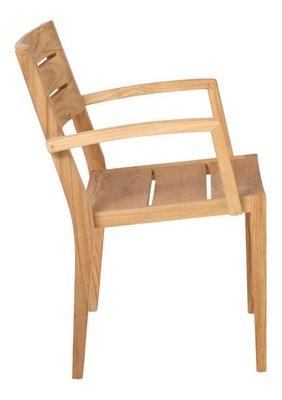 Traditional Teak GRACE stacking chair