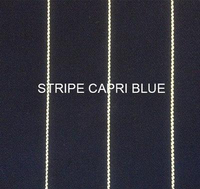 Stof Stripe Capri blue
