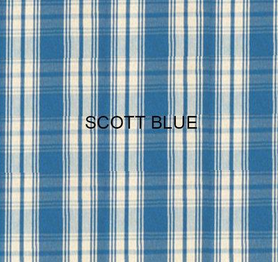 Stof Scott Blue