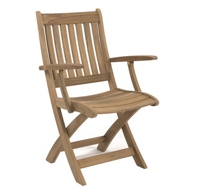 Ocean folding armchair (RVS beslag)