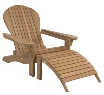 Adirondack Lounger inclusief Footstool