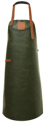 WITLOFT Schort  Dames Green/Cognac