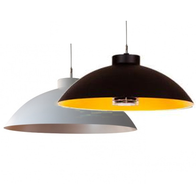 Heatsail Dome 'pendelend' wit/zwart incl. muurbeugel