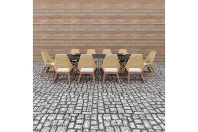 Quan Garden Art Tafelset met 10 stoelen