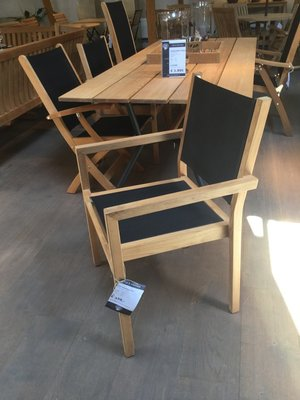 Kate Stacking Chair (black)