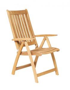Traditional Teak ALEXIA recliner / verstelbare stoel