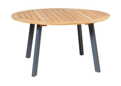 Traditional Teak DIANA table aluminium antraciet legs