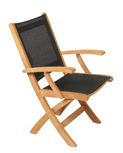 Traditional Teak KATE folding arm chair