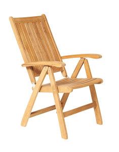 Traditional Teak VICTORIA recliner / verstelbare stoel