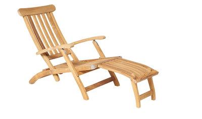 Traditional Teak VICTORIA deckchair / ligstoel