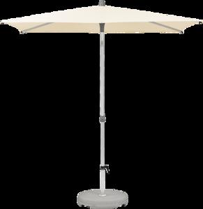 Glatz Alu-smart Easy Parasol 250 x 200 cm (150 Eggshell)