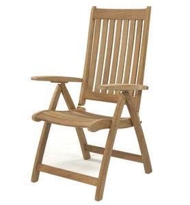 Teak & Garden OCEAN Recliner / verstelbare stoel (RVS beslag)
